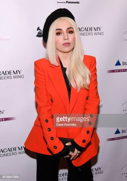 Singer Ava Max attends the Producers and Engineers Wing 11th Annual GRAMMY Week Event Honoring Swizz Beatz And Alicia Keys at The Rainbow Room on...