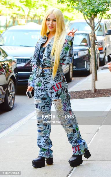 Singer Ava Max is seen walking in SoHo on August 20 2019 in New York City
