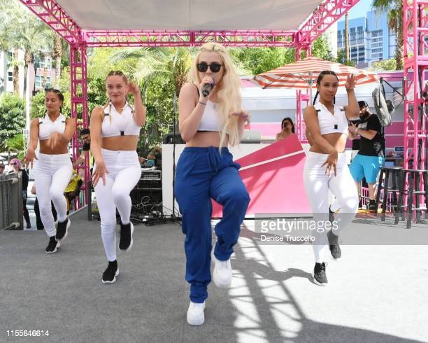 Singer Ava Max performs at Flamingo Las Vegas' GO Pool Dayclub on July 14 2019 in Las Vegas Nevada
