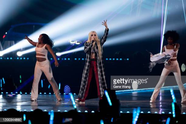 Singer Ava Max performs at the 15th KKBOX Music Awards on January 18, 2020 in Taipei, Taiwan.