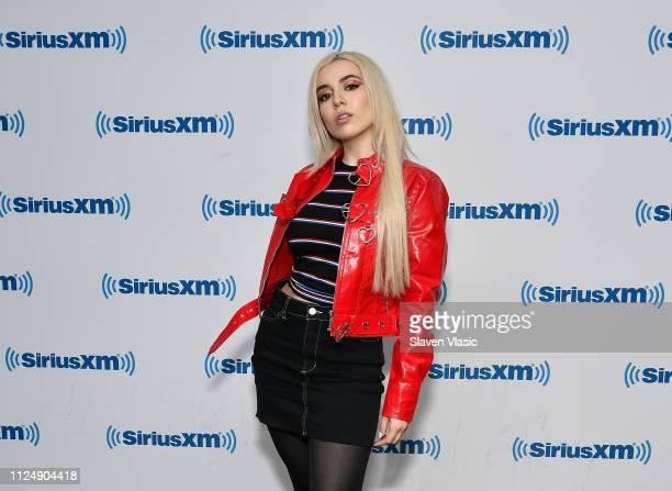 Singer Ava Max visits SiriusXM Studios on February 14 2019 in New York City