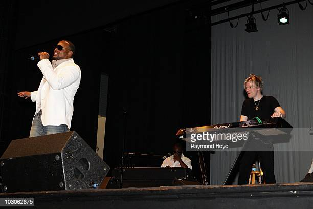 Singer Avant performs with jazz trombone and keyboard player Brian Culbertson at the Harold Washington Cultural Center in Chicago Illinois on July 22...