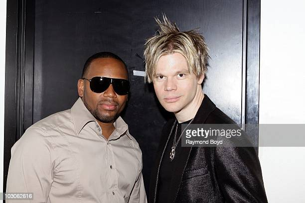 Singer Avant poses for photos with jazz trombone and keyboard player Brian Culbertson at the Harold Washington Cultural Center in Chicago Illinois on...