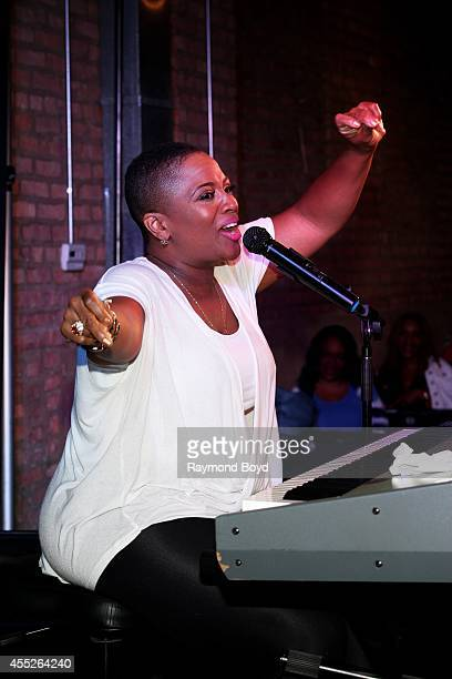 Singer Avery Sunshine performs at Room 43 during 'The Experience With Avery Sunshine' on September 09 2014 in Chicago Illinois