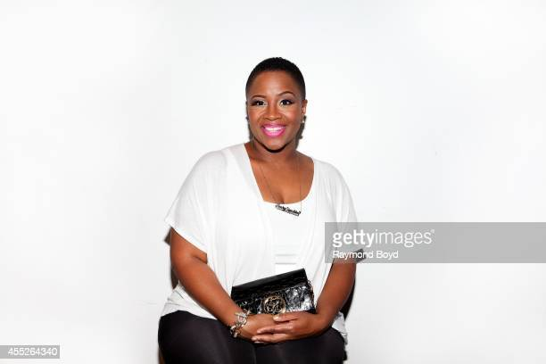 Singer Avery Sunshine poses for photos at Room 43 before performing during 'The Experience With Avery Sunshine' on September 09 2014 in Chicago...