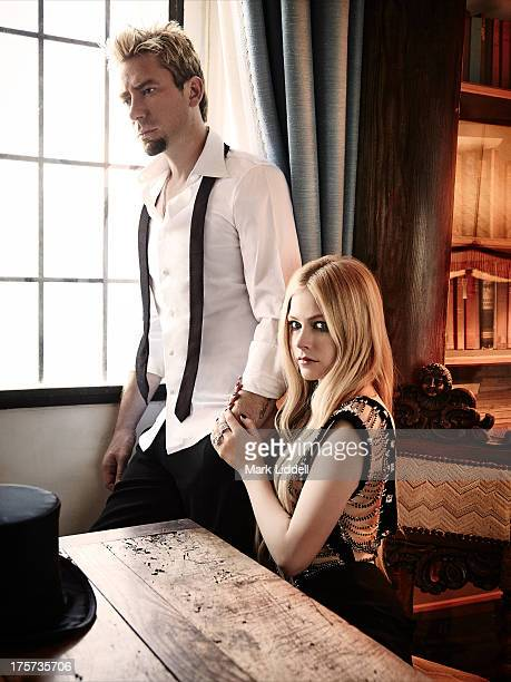 Singer Avril Lavigne and husband Chad Kroeger are photographed for Glamour Italy on June 30 2013 in Cannes France PUBLISHED IMAGE