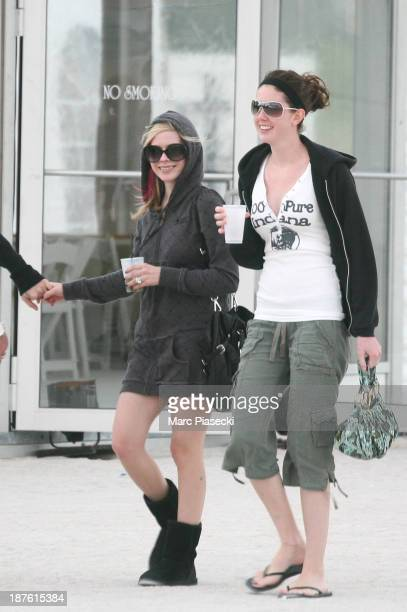Singer Avril Lavigne and husband Deryck Whibley are seen in Miami Beach on January 30 2008 in Miami Florida
