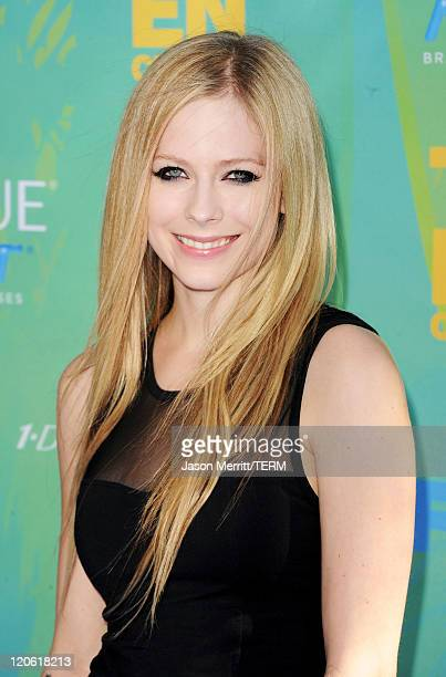 Singer Avril Lavigne arrives at the 2011 Teen Choice Awards held at the Gibson Amphitheatre on August 7 2011 in Universal City California