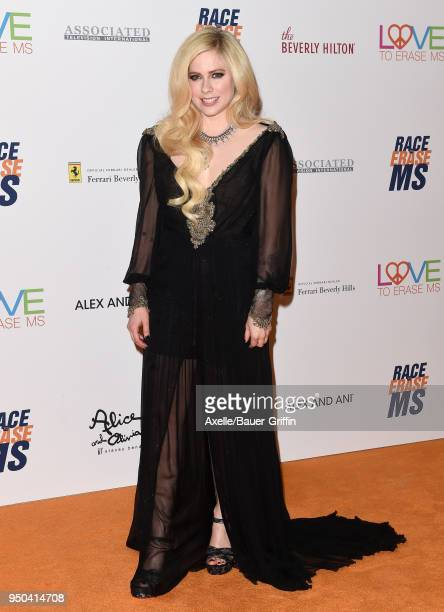Singer Avril Lavigne arrives at the 25th Annual Race to Erase MS Gala at The Beverly Hilton Hotel on April 20, 2018 in Beverly Hills, California.