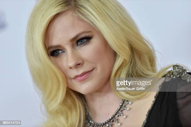 Singer Avril Lavigne arrives at the 25th Annual Race to Erase MS Gala at The Beverly Hilton Hotel on April 20 2018 in Beverly Hills California