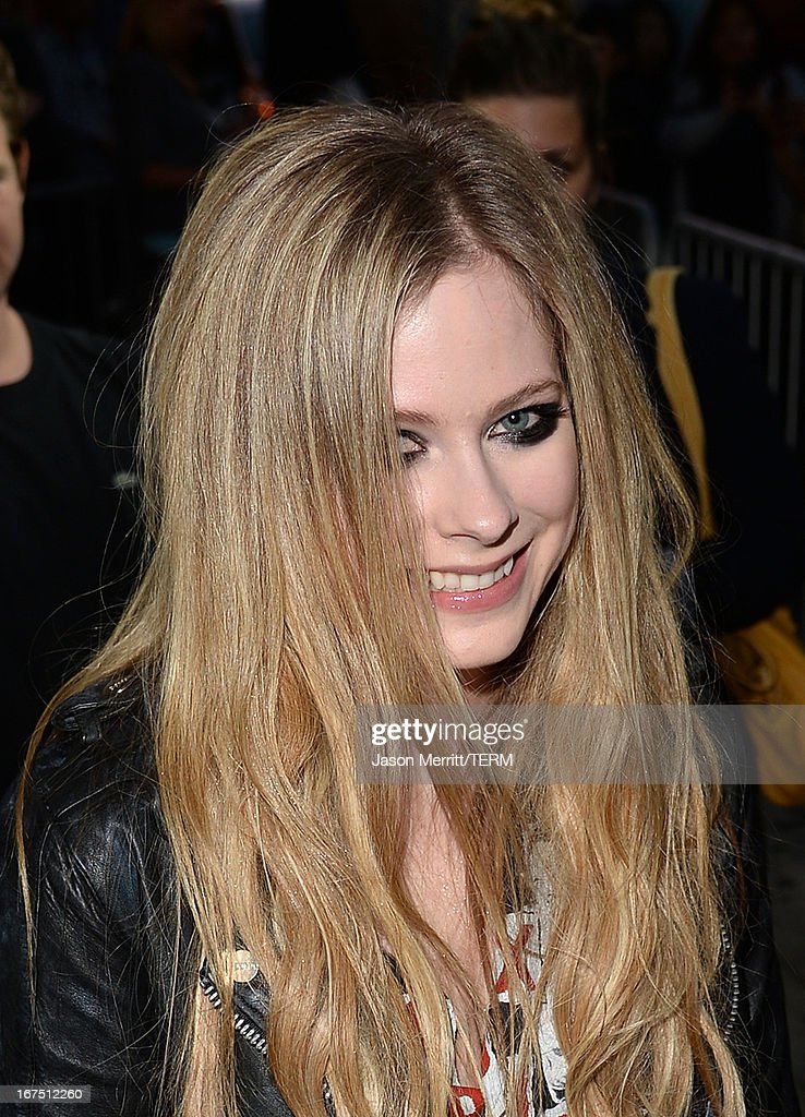 Singer Avril Lavigne arrives for her secret performance at The Viper Room on April 25, 2013 in West Hollywood, California.