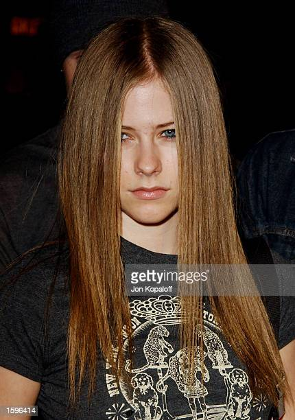 Singer Avril Lavigne attends the premiere of '8 Mile' at the Mann Village Theater on November 6 2002 in Westwood California