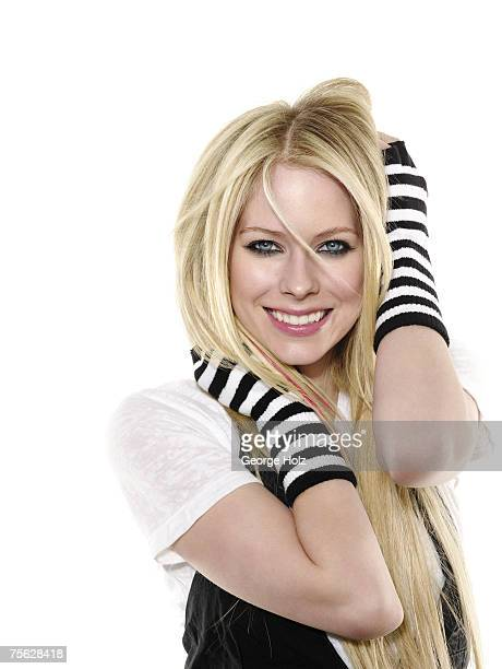 Singer Avril Lavigne is photographed for Seventeen Magazine on on January 16 2007 at the MiauHauss Studios in Los Angeles California COVER IMAGE
