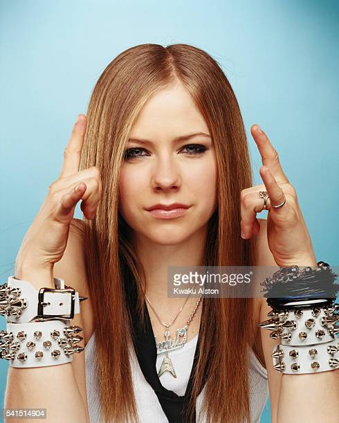 Singer Avril Lavigne is photographed for Teen People Magazine in 2003