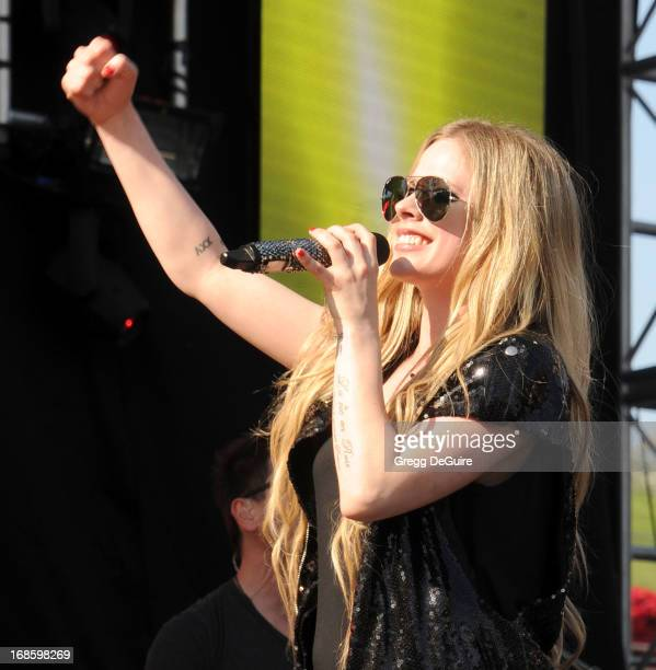 Singer Avril Lavigne performs at 102.7 KIIS FM's Wango Tango at The Home Depot Center on May 11, 2013 in Carson, California.