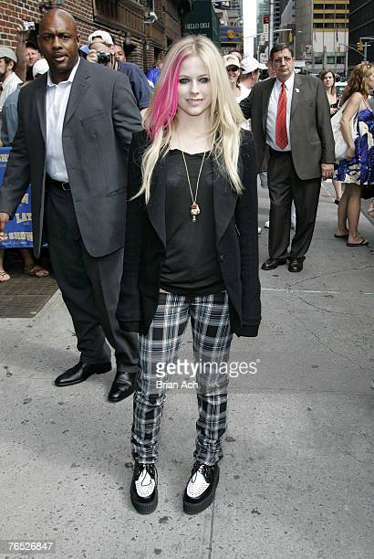 Singer Avril Lavigne visits The Late Show with David Letterman at the Ed Sullivan Theatre on September 5 2007 in New York City