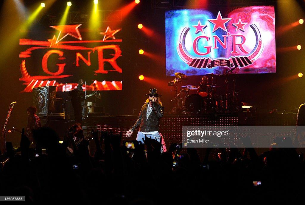 Guns N' Roses And Sebastian Bach Perform At The Joint At The Hard Rock Hotel & Casino : News Photo