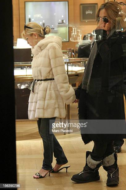 Singer Ayumi Hamasaki and boyfriend Maro are seen at the 'Cartier' store in 'Rue du Faubourg Saint Honore' on November 14 2012 in Paris France