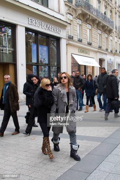 Singer Ayumi Hamasaki and boyfriend Maro are seen leaving the 'Eric Bompard' store on the 'Avenue des ChampsElysees' on November 16 2012 in Paris...