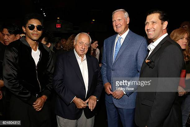 Singer B Howard, former baseball player Tommy Lasorda, and former NBA player Jerry West attend the Los Angeles Police Memorial Foundation Celebrity...