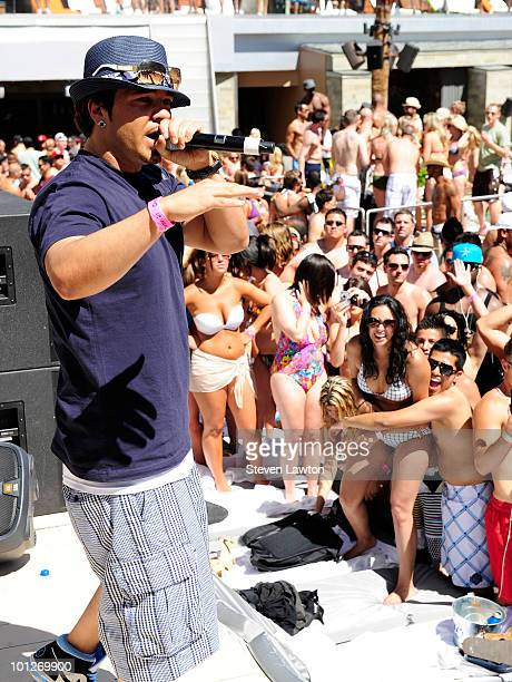 """Singer Baby Bash performes at the 2nd annual """"Love Festival"""" at The Palms Casino Resort on May 29, 2010 in Las Vegas, Nevada."""