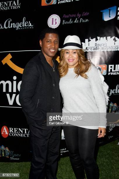 Singer Babyface and Sharonda Stockman attend Micah's Voice Benefit Concert at Private Residence on April 25 2017 in Los Angeles California