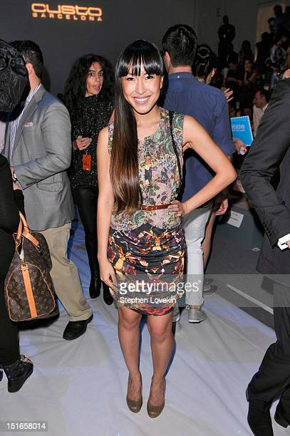 Singer Baiyu attends the Custo Barcelona Spring 2013 fashion show during MercedesBenz Fashion Week at The Stage at Lincoln Center on September 9 2012...