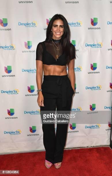 Singer Barbara de Regil is seen on the set of 'Despierta America at Univision Studios on July 7 2017 in Miami Florida