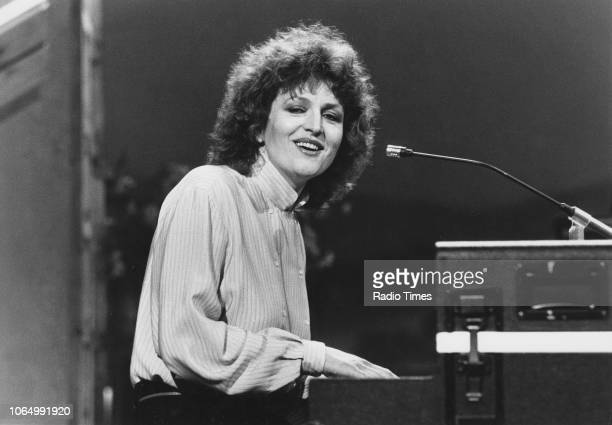 Singer Barbara Dickson pictured performing May 1st 1982