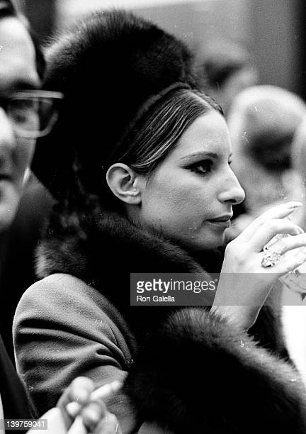 Singer Barbara Streisand attends Young Artists From Around the World Gala on May 6 1969 at the Union Carbide Buidling in New York City