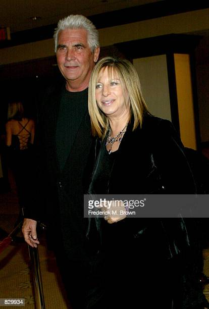 Singer Barbra Streisand and her husband actor James Brolin attend the 54th Annual Directors Guild Awards at the Century Park Plaza Hotel March 9 2002...