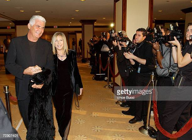Singer Barbra Streisand and husband actor James Brolin attend the 54th Annual Directors Guild Awards at the Century Park Plaza Hotel March 9 2002 Los...
