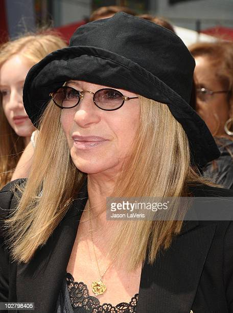 """Singer Barbra Streisand attends the premiere of """"Standing Ovation"""" at Universal CityWalk on July 10, 2010 in Universal City, California."""