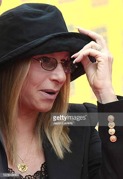 Singer Barbra Streisand attends the premiere of 'Standing Ovation' at Universal CityWalk on July 10 2010 in Universal City California