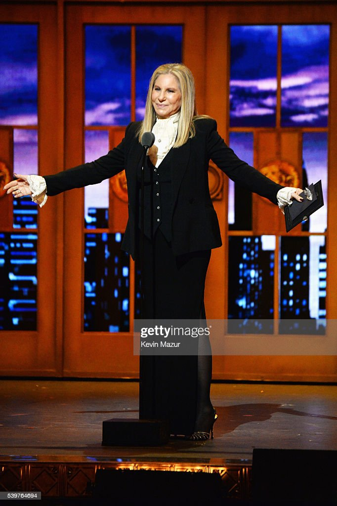 Singer Barbra Streisand speaks onstage during the 70th Annual Tony Awards at The Beacon Theatre on June 12, 2016 in New York City.
