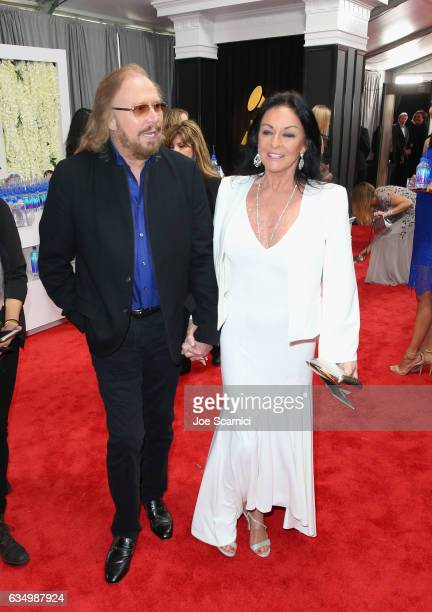 Singer Barry Gibb and Linda Gray at The 59th Annual GRAMMY Awards at STAPLES Center on February 12 2017 in Los Angeles California
