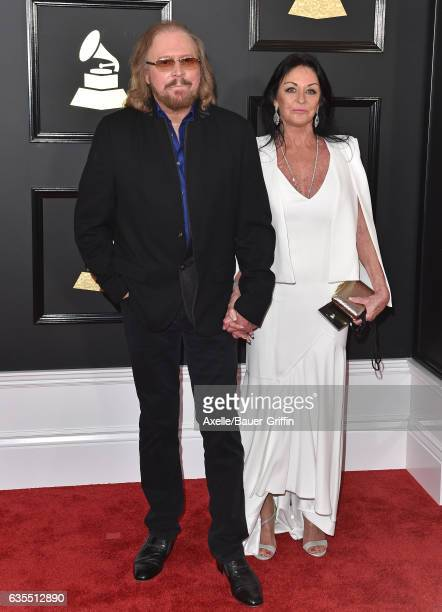Singer Barry Gibb and Linda Gray attend the 59th GRAMMY Awards at STAPLES Center on February 12 2017 in Los Angeles California
