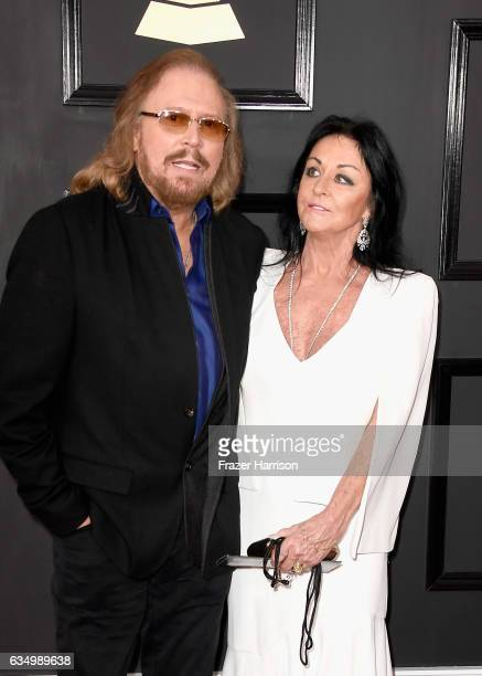 Singer Barry Gibb and Linda Gray attends The 59th GRAMMY Awards at STAPLES Center on February 12 2017 in Los Angeles California