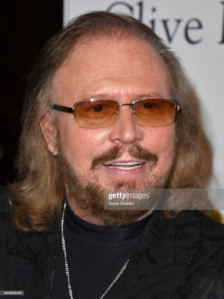 Singer Barry Gibb attends Pre-GRAMMY Gala and Salute to Industry Icons Honoring Debra Lee at The Beverly Hilton on February 11, 2017 in Los Angeles, California.
