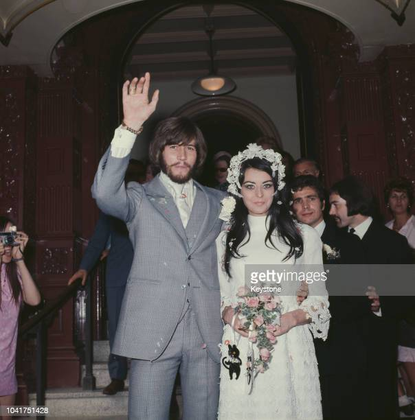 Singer Barry Gibb of The Bee Gees marries Linda Gray 1st September 1970