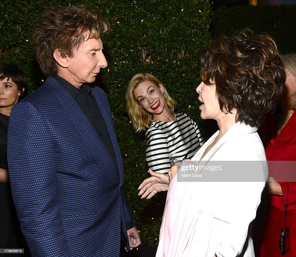 Singer Barry Manilow, actress January Jones and singer Carole Bayer Sager attend the 2nd Annual 'Rebels With A Cause' Gala held at Paramount Studios on March 20, 2014 in Hollywood, California.