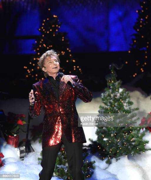 Singer Barry Manilow performs during A Very Berry Christmas presented by KOST 1035 at The Forum on December 20 2017 in Inglewood California