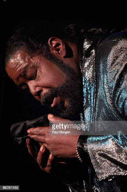 singer Barry White performs live on stage at Ahoy Rotterdam Holland on November 23 1999