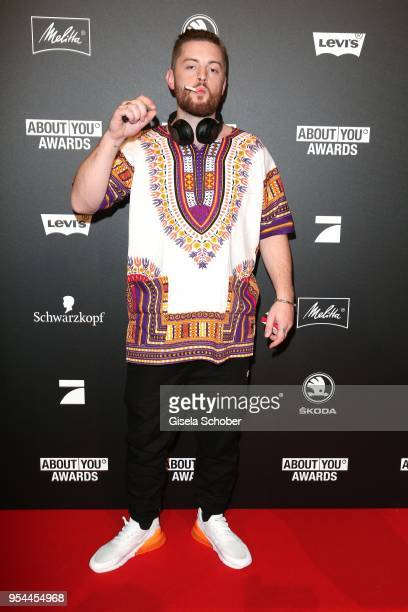 Singer Bausa with cigarette during the 2nd ABOUT YOU Awards 2018 at Bavaria Studios on May 3 2018 in Munich Germany