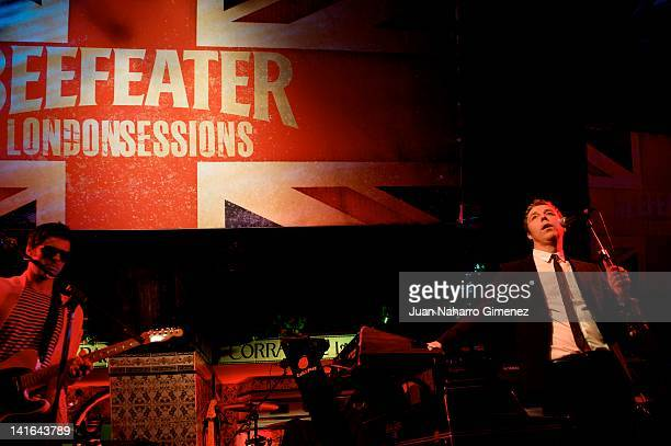Singer Baxter Dury performs on stage at the Beefeater London Sessions in El Corral de la Pacheca on March 20 2012 in Madrid Spain
