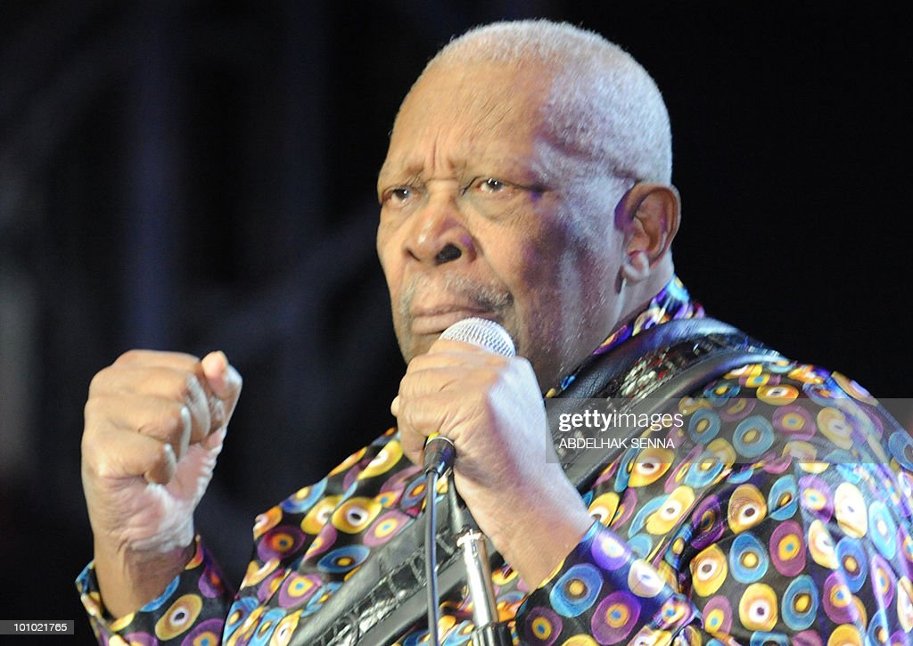 US singer BB King performs during the ninth edition of the Mawazine international music festival in Rabat on May 27, 2010.