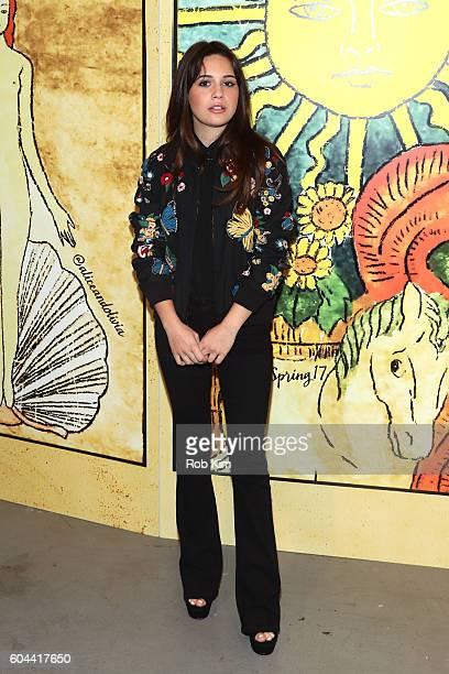 Singer Bea Miller attends the Alice Olivia by Stacey Bendet Spring/Summer 2017 Presentation during New York Fashion Week September 2016 at Skylight...