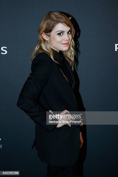 Singer Beatrice Martin aka Coeur de Pirate attends YSL Beauty launches the new Fragrance 'Mon Paris' at Cafe Le Georges on June 14 2016 in Paris...