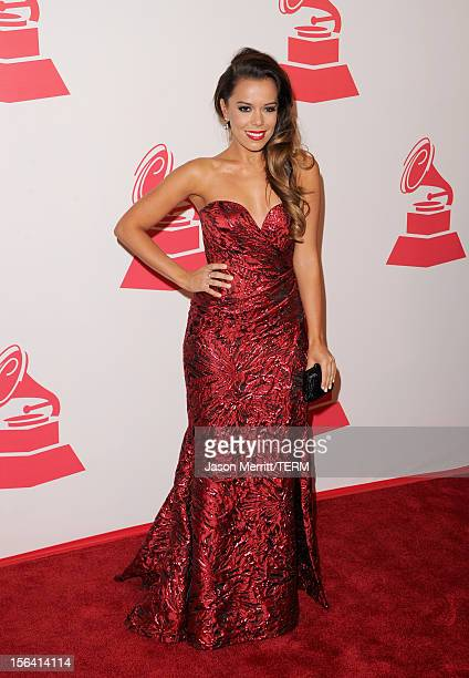 Singer Beatriz Luengo arrives at the 2012 Latin Recording Academy Person Of The Year honoring Caetano Veloso at the MGM Grand Garden Arena on...