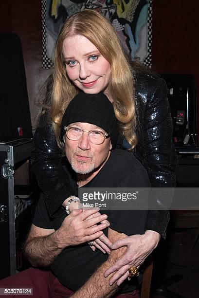 Singer Bebe Buell and Marshall Crenshaw attend the Velvet Underground Lou Reed Benefit Tribute 50th Anniversary Celebration of the Arts at The...